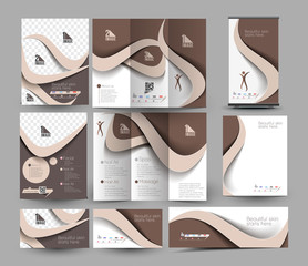 Beauty Care & Salon Stationery Set Template.