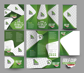 Golf Club Stationery Set Template