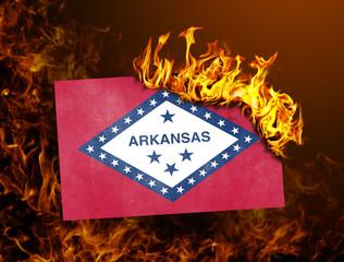 Flag burning - Arkansas