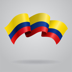 Colombian waving Flag. Vector illustration
