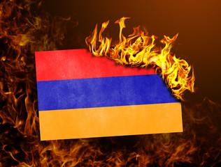 Flag burning - Armenia