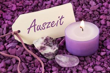 Auszeit - Amethyst und Kerze