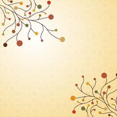 Autumn decorative background