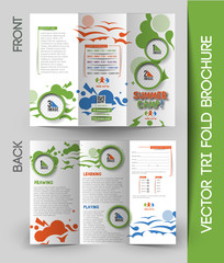 Summer Camp Tri-Fold Mock up & Brochure Design