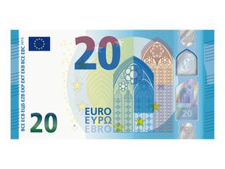 Neuer 20 Euro Schein ab November 2015 Vektor
