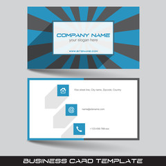Business card template in flat design