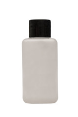 Hand sanitizer gel pump dispenser isolated on white