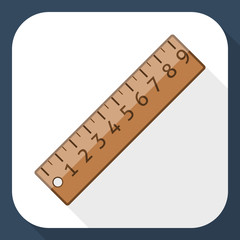 Ruler icon with long shadow