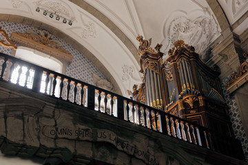 Old church organ
