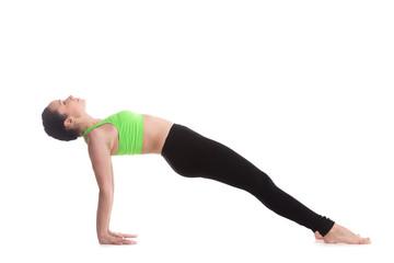 Upward plank yoga pose