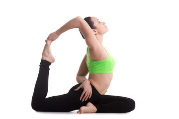 One-legged king pigeon yoga pose