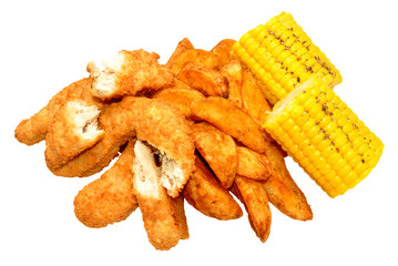 Breaded Chicken Strips And Wedges