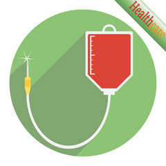Drop counter with donate blood.
