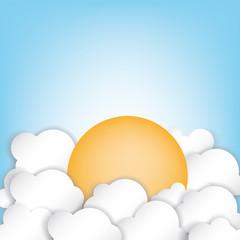 nuvole con sole