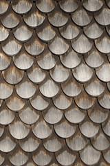 Alte Holzchindelverkleidung