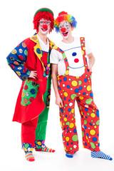 lachendes clownpaar