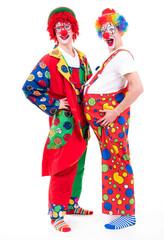 geschminkte clowns