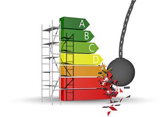 Sloop van woningen met laag energielabel