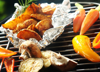 Healthy vegetarian barbecue