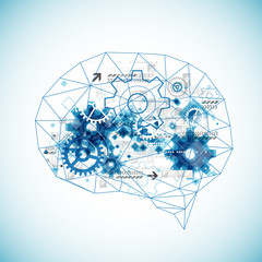 Abstract digital brain,technology concept.