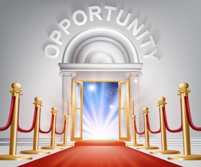 Opportunity Red Carpet Door