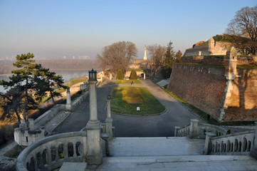 View of Belgrade Fortress and the Kalemegdan Park
