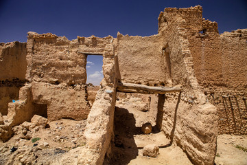 ruins of medieval casbah, Morocco