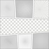 Fototapety Comics pop art style blank layout template with dots pattern