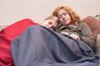 Girlfriends sleeping at home