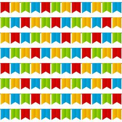 Seamless pattern with party flags