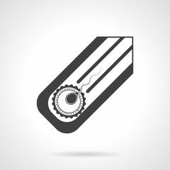Artifical insemination black vector icon