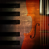 Fotoroleta abstract grunge music background with violin