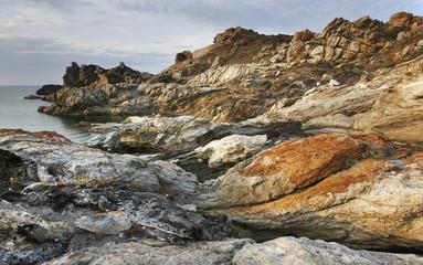Mediterranean coastline landscape in Creus Cape. Girona, Spain