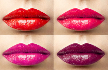 beautiful lips collection color wine, fuchsia, pink, red