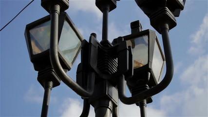 Street lantern close-up