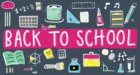 Back to School Knowledge Studying Education Concept