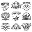 Set of vintage cowboy emblems - 79949674