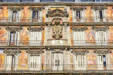 Casa de la Panadería en la Plaza Mayor, Madrid (España)