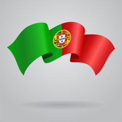 Portuguese waving Flag. Vector illustration