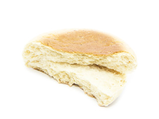 English muffin breakfast half and cross sliced