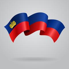 Liechtenstein waving Flag. Vector illustration
