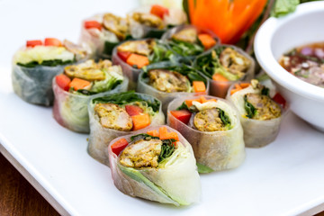 food wrapped in leaves