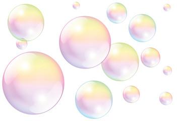 Soap Bubbles White