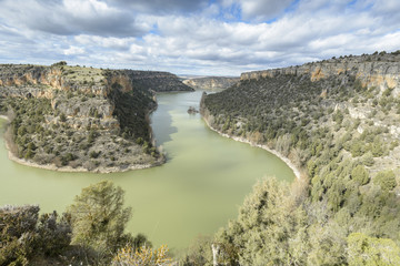 Duraton Canyon Natural Park in Segovia, Spain