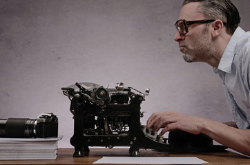 Working with an old typewriter