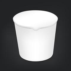 blank food cup package