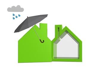 Paraplu boven je woning als het regent