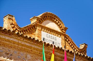 Detalle del Ayuntamiento de Consuegra, Toledo, España