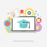 Fototapety Online education concept vector illustration, flat style