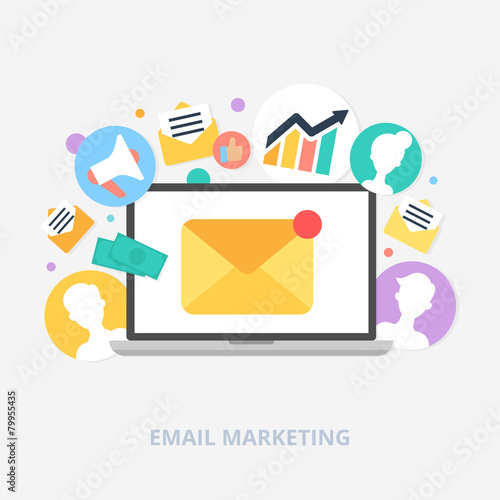 Email marketing concept vector illustration, flat style - 79955435